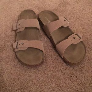 Madden Girl brown sandals, Size 10. Like new!!